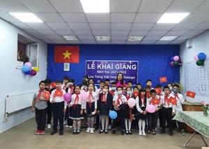 Khai giảng lớp học tiếng Việt tại làng Staritskogo Ukraine
