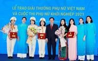 Giải thưởng Phụ nữ Việt Nam năm 2021 gọi tên 6 tập thể và 10 cá nhân xuất sắc
