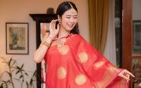 Hoa hậu Ngọc Hân lần đầu diện trang phục truyền thống Ấn Độ